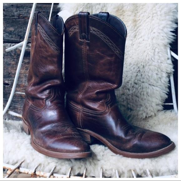 786d3c5e952 Vibram Resist-oil,No-Mark 8.5EE brown cowboy boots